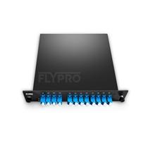 Bild von CWDM/DWDM Hybridlösung, 8 Kanäle DWDM-Multiplexer C53-C60, mit Überwachungsport, Erweiterungsport und 1310nm Port, FMU Plug-in Modul, LC/UPC