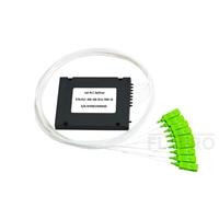 صورة مجزئ فايبر 1x8 PLC أحادي Splice/Pigtailed ABS Module, 900μm, SC/APC