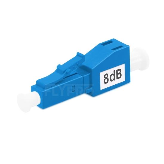 Picture of LC/UPC Single Mode Fixed Fiber Optic Attenuator, Male-Female, 8dB