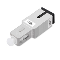 Picture of SC/UPC Single Mode Fixed Fiber Optic Attenuator, Male-Female, 12dB