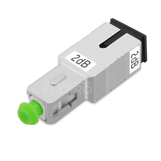Picture of SC/APC Singlemode Fixed Fiber Optic Attenuator, Male-Female, 2dB
