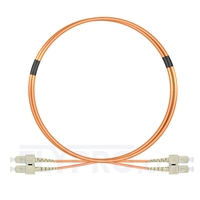 Picture of 1m (3ft) SC UPC to SC UPC Duplex OM1 Multimode PVC (OFNR) 2.0mm Fiber Optic Patch Cable