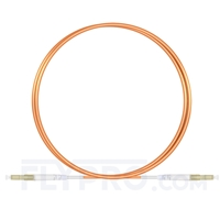 Picture of 1m (3ft) LC UPC to LC UPC Simplex OM1 Multimode PVC (OFNR) 2.0mm Fiber Optic Patch Cable
