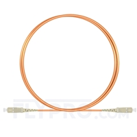 Picture of 2m (7ft) SC UPC to SC UPC Simplex OM1 Multimode PVC (OFNR) 2.0mm Fiber Optic Patch Cable