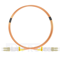 Picture of 1m (3ft) LC UPC to LC UPC Duplex OM2 Multimode PVC (OFNR) 2.0mm Fiber Optic Patch Cable