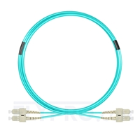 Bild von 5m (16ft) SC UPC to SC UPC Duplex OM3 Multimode PVC (OFNR) 2.0mm Fiber Optic Patch Cable