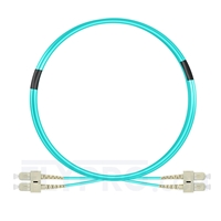 Bild von 2m (7ft) SC UPC to SC UPC Duplex OM3 Multimode PVC (OFNR) 2.0mm Fiber Optic Patch Cable