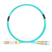 Bild von 2m (7ft) LC UPC to ST UPC Duplex OM3 Multimode PVC (OFNR) 2.0mm Fiber Optic Patch Cable