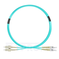 Bild von 3m (10ft) SC UPC to ST UPC Duplex OM3 Multimode PVC (OFNR) 2.0mm Fiber Optic Patch Cable