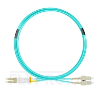 Bild von 5m (16ft) LC UPC to SC UPC Duplex OM3 Multimode LSZH 2.0mm Fiber Optic Patch Cable