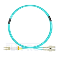 Bild von 3m (10ft) LC UPC to SC UPC Duplex OM3 Multimode OFNP 2.0mm Fiber Optic Patch Cable