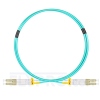 Bild von 1m (3ft) LC UPC to LC UPC Duplex OM3 Multimode OFNP 2.0mm Fiber Optic Patch Cable