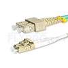 Picture of 5m (16ft) LC UPC to SC UPC Duplex OM4 Multimode LSZH 2.0mm Fiber Optic Patch Cable