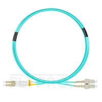 Bild von 3m (10ft) LC UPC to SC UPC Duplex OM4 Multimode LSZH 2.0mm Fiber Optic Patch Cable