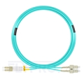 Picture of 15m (49ft) LC UPC to SC UPC Duplex OM4 Multimode LSZH 2.0mm Fiber Optic Patch Cable