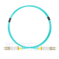Picture of 1m (3ft) LC UPC to LC UPC Duplex OM4 Multimode OFNP 2.0mm Fiber Optic Patch Cable