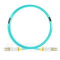Picture of 5m (16ft) LC UPC to LC UPC Duplex OM4 Multimode OFNP 2.0mm Fiber Optic Patch Cable