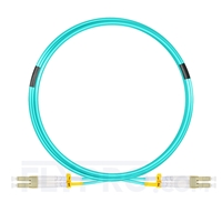 Bild von 5m (16ft) LC UPC to LC UPC Duplex OM4 Multimode OFNP 2.0mm Fiber Optic Patch Cable