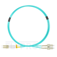 Bild von 1m (3ft) LC UPC to SC UPC Duplex OM4 Multimode OFNP 2.0mm Fiber Optic Patch Cable