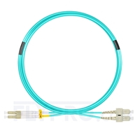 Bild von 5m (16ft) LC UPC to SC UPC Duplex OM4 Multimode OFNP 2.0mm Fiber Optic Patch Cable