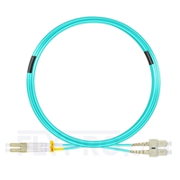 Bild von 7m (23ft) LC UPC to SC UPC Duplex 3.0mm LSZH OM4 Multimode Fiber Optic Patch Cable