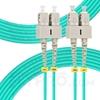 Picture of 10m (33ft) SC UPC to SC UPC Duplex 3.0mm PVC (OFNR) OM4 Multimode Fiber Optic Patch Cable