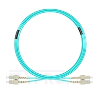 Bild von 10m (33ft) SC UPC to SC UPC Duplex 3.0mm PVC (OFNR) OM4 Multimode Fiber Optic Patch Cable