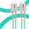 Picture of 3m (10ft) SC UPC to SC UPC Duplex 3.0mm PVC (OFNR) OM4 Multimode Fiber Optic Patch Cable