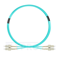 Bild von 3m (10ft) SC UPC to SC UPC Duplex 3.0mm PVC (OFNR) OM4 Multimode Fiber Optic Patch Cable
