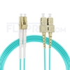 Picture of 30m (98ft) LC UPC to SC UPC Duplex 3.0mm LSZH OM4 Multimode Fiber Optic Patch Cable