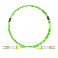 Picture of 1m (3ft) LC UPC to LC UPC Duplex OM5 Multimode Wideband LSZH 2.0mm Fiber Optic Patch Cable