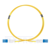 Picture of 1m (3ft) LC UPC to LC UPC Duplex OS2 Single Mode PVC (OFNR) 2.0mm Fiber Optic Patch Cable