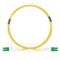 Picture of 1m (3ft) LC APC to LC APC Duplex OS2 Single Mode PVC (OFNR) 2.0mm Fiber Optic Patch Cable