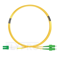 Picture of 1m (3ft) LC APC to SC APC Duplex OS2 Single Mode PVC (OFNR) 2.0mm Fiber Optic Patch Cable