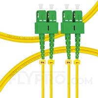 Picture of 1m (3ft) SC APC to SC APC Duplex OS2 Single Mode PVC (OFNR) 2.0mm Fiber Optic Patch Cable