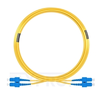 Picture of 15m (49ft) SC UPC to SC UPC Duplex 3.0mm PVC (OFNR) 9/125 Single Mode Fiber Patch Cable