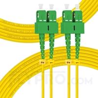 Picture of 20m (66ft) SC APC to SC APC Duplex 3.0mm PVC (OFNR) 9/125 Single Mode Fiber Patch Cable