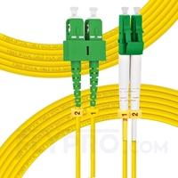 Bild von 7m (23ft) LC APC to SC APC Duplex 3.0mm PVC (OFNR) 9/125 Single Mode Fiber Patch Cable