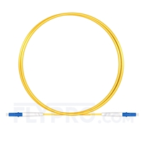 Picture of 1m (3ft) LC UPC to LC UPC Simplex OS2 Single Mode PVC (OFNR) 2.0mm Fiber Optic Patch Cable