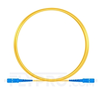 Picture of 2m (7ft) SC UPC to SC UPC Simplex OS2 Single Mode PVC (OFNR) 2.0mm Fiber Optic Patch Cable