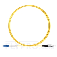 Picture of 1m (3ft) LC UPC to FC UPC Simplex OS2 Single Mode PVC (OFNR) 2.0mm Fiber Optic Patch Cable