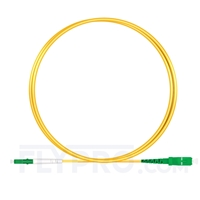 Picture of 1m (3ft) LC APC to SC APC Simplex OS2 Single Mode PVC (OFNR) 2.0mm Fiber Optic Patch Cable