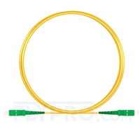 Picture of 2m (7ft) SC APC to SC APC Simplex OS2 Single Mode PVC (OFNR) 2.0mm Fiber Optic Patch Cable