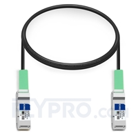 Picture of 1m (3ft) Dell DAC-Q28-100G-1M Compatible 100G QSFP28 Passive Direct Attach Copper Twinax Cable