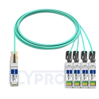 Picture of 10m (33ft) H3C QSFP28-4SFP28-AOC-10M Compatible 100G QSFP28 to 4x25G SFP28 Breakout Active Optical Cable
