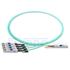 Picture of 2m (7ft) Arista Networks QSFP-4X10G-AOC2M Compatible 40G QSFP+ to 4x10G SFP+ Breakout Active Optical Cable