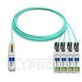 Bild von Avago AFBR-7IER15Z Kompatibles 40G QSFP+ auf 4x10G SFP+ Breakout Aktives Optisches Kabel (AOC), 15m (49ft)