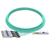 Picture of 20m (66ft) Avago AFBR-7IER20Z Compatible 40G QSFP+ to 4x10G SFP+ Breakout Active Optical Cable