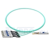 Picture of 1m (3ft) Fortinet FG-TRAN-QSFP-4XSFP Compatible 40G QSFP+ to 4x10G SFP+ Breakout Active Optical Cable