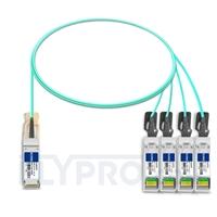 Picture of 1m (3ft) H3C QSFP-4X10G-D-AOC-1M Compatible 40G QSFP+ to 4x10G SFP+ Breakout Active Optical Cable
